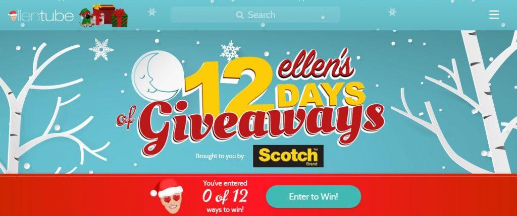 Ellen degeneres 12 days of giveaways win