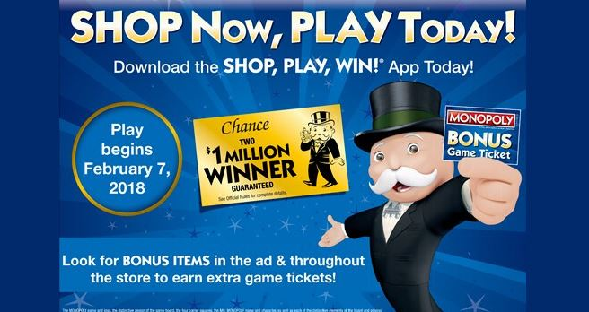safeway monopoly sweepstakes safeway shop play win monopoly game www shopplaywin com 2644