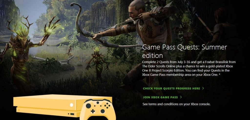 Xbox Game Pass Quests Sweepstakes Prize Draw Contest