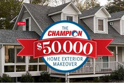 Champion window 50k home exterior makeover giveaway - Champion home exteriors glassdoor ...