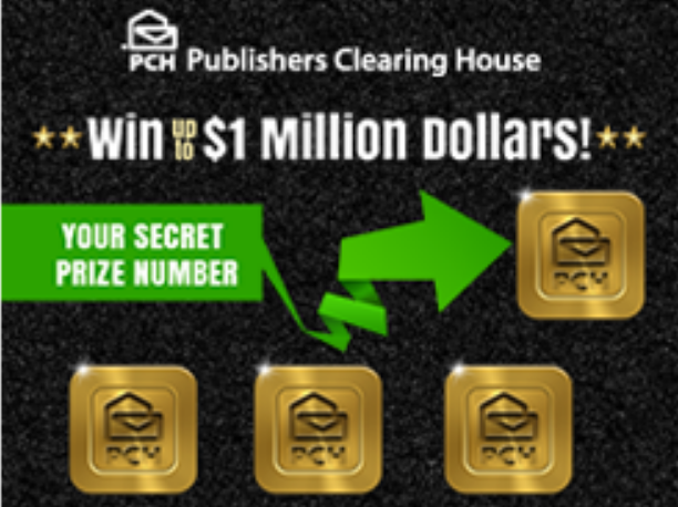 sweepstakes clearinghouse vouchers pch win up to 1 million dollars sweepstakes giveaway no 3279