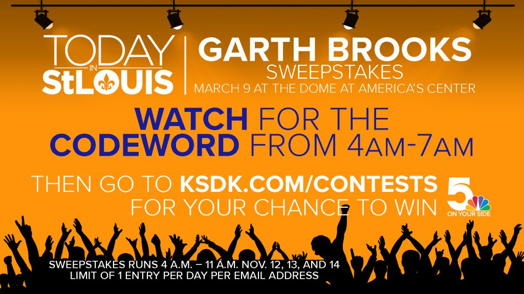 ksdk today in st  louis garth brooks tickets sweepstakes